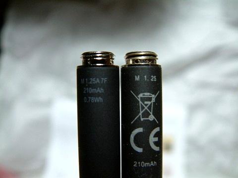 バッテリーの刻印が違ってますね!