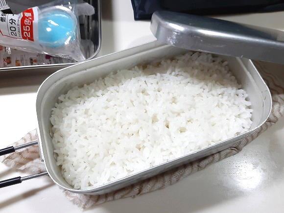 美味しそうに炊きあがりました(^o^)v