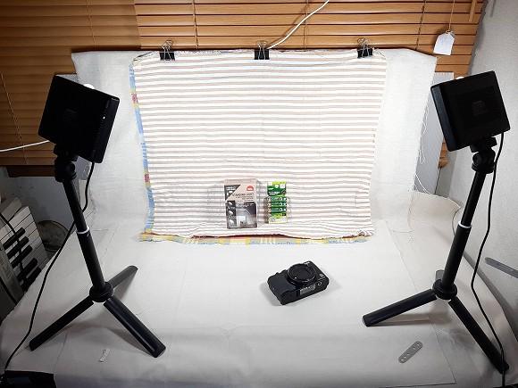我が家の撮影ブースでございます。