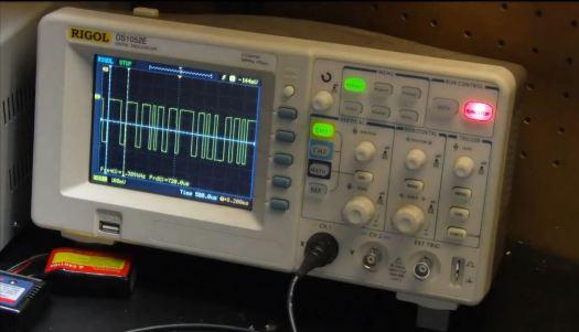 Mind Flex serial data on Rigol oscilloscope