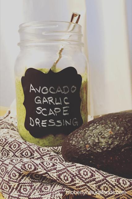 Avocado Garlic Scape Dressing
