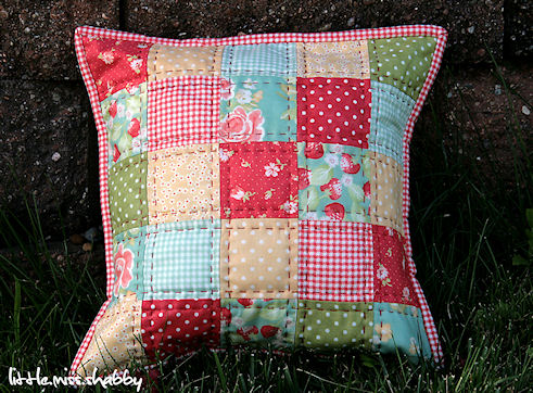 Red Quilted Pillow