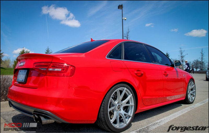 Forgestar CF5V Audi B8 S4 Silver 19x9ET39 Red On Track (3)