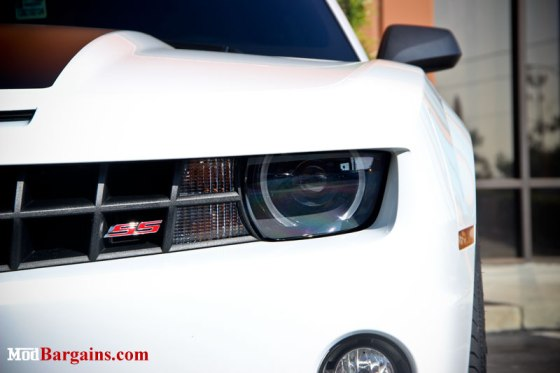 White 2012 Camaro SS Headlight Halo