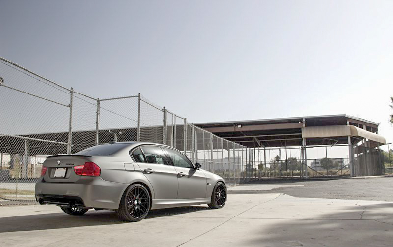 bmw-e90-335d-metallic-matte-gunmetal-wrapped-photoshoot-1