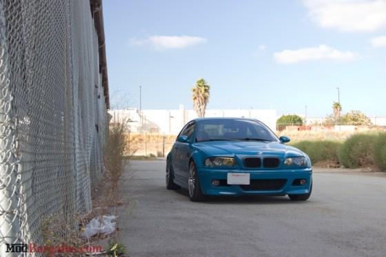 Laguna Seca Blue BMW E46 M3 Front