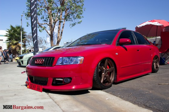 Red Audi A4 A Bagged Audi B7 A4