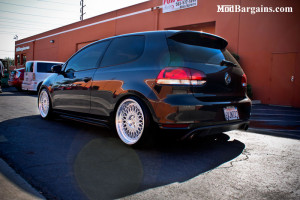 Black VW Golf GTI Silver Spoke Wheels