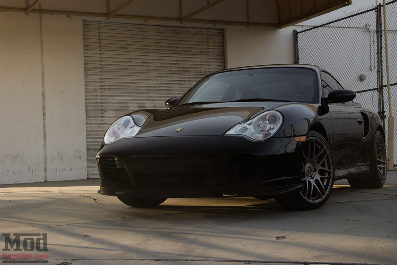 Black 2004 Porsche 996 Turbo Front Bumper