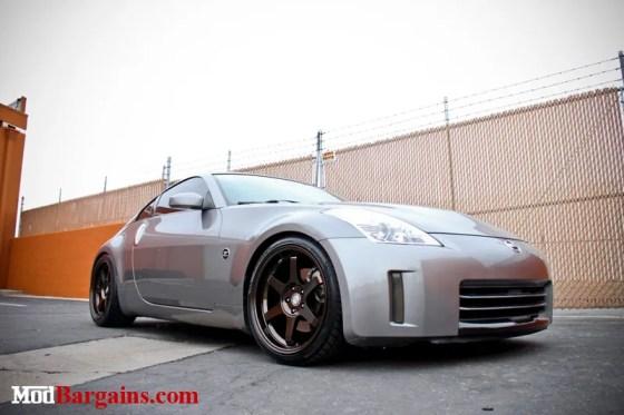 Gray Nissan 350Z Bronze Sportline Wheels Front