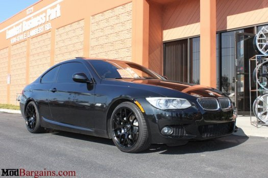 Avant Garde M310 Matte Black Wheels on BMW 328i
