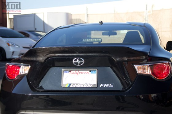 Black Scion FR-S Carbon Fiber Duck Bill Style Trunk Spoiler