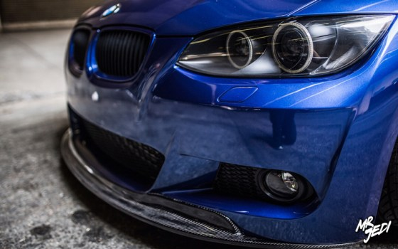 Blue 2007 BMW E92 335i Headlights Front Bumper