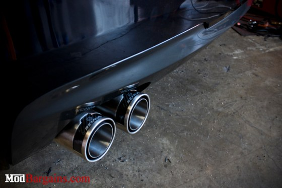 Black BMW F10 535i Remus Exhaust