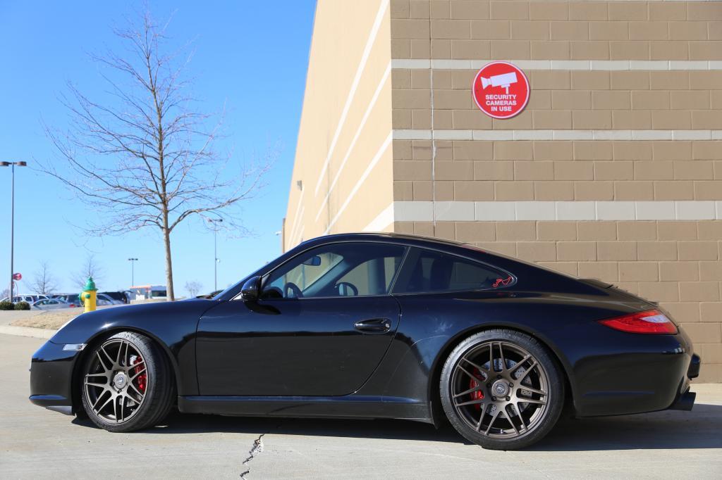 Porsche 997 2 C2 On Black Forgestar F14 Amp H Amp R Springs