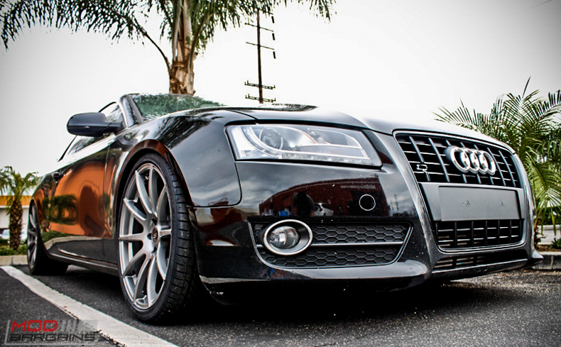 Audi B8 A5 Forgestar CF10 Gunmetal 19x85 KW V2 Coilovers RS Grille (3)