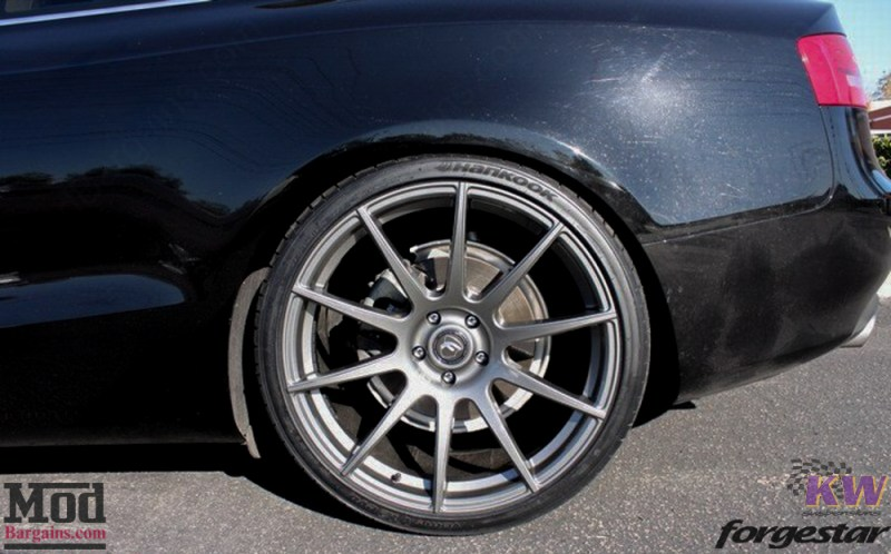 Audi B8 A5 Forgestar CF10 Gunmetal on KW V1 Coilovers w RS Grille (3)