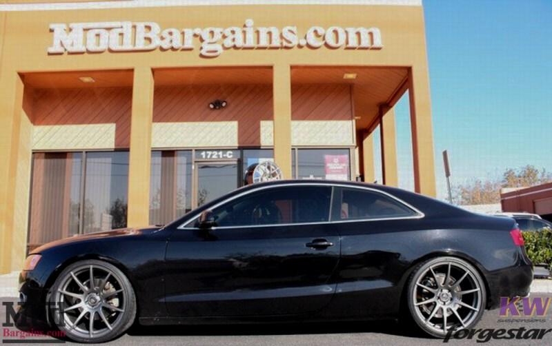 Audi B8 A5 Forgestar CF10 Gunmetal on KW V1 Coilovers w RS Grille (5)