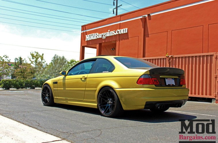 Photos Phoenix Yellow E46 Bmw M3 On Matte Black Forgestar F14 Wheels