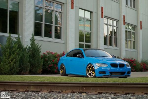 August COTM: Never Too Blue – Sean's LSB E92 BMW 335i on VOLK TE37SL Wheels