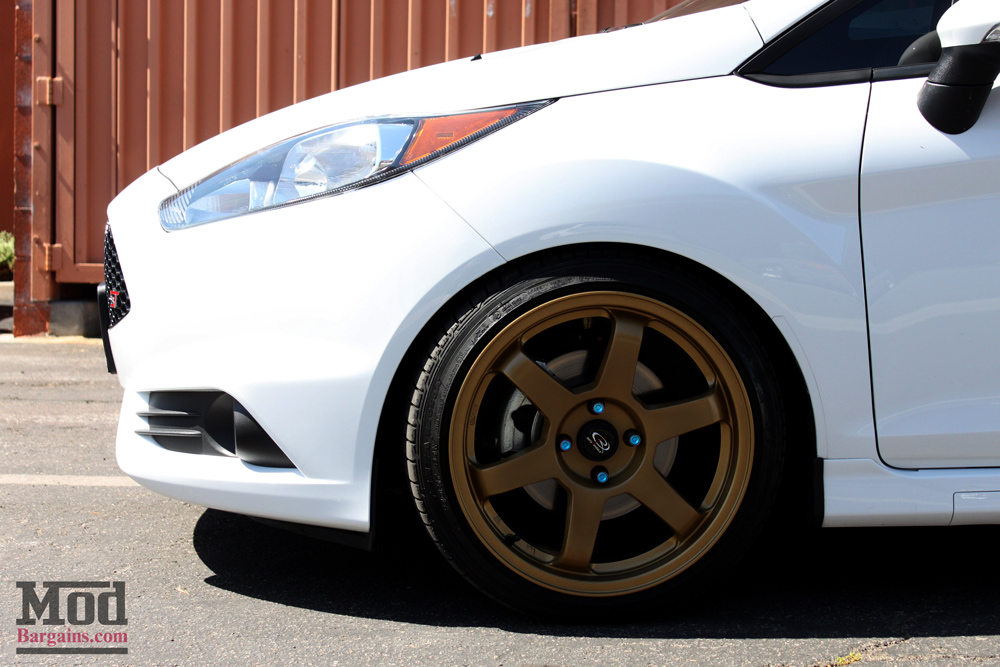 Ford Focus Wheels And Tires >> Gettin low with a Ford Fiesta ST on Vogtland Coilovers & Gold Wheels
