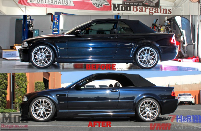 bmw-e46-cabrio-hr-springs-koni-yellow-vmr-vb3-beforeafter