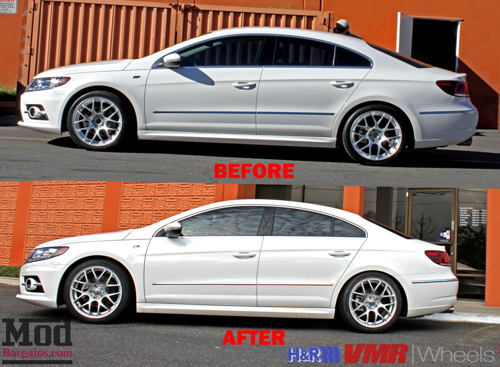 Quick Snap Vw Passat Cc On H Amp R Springs With Vmr V710 Wheels