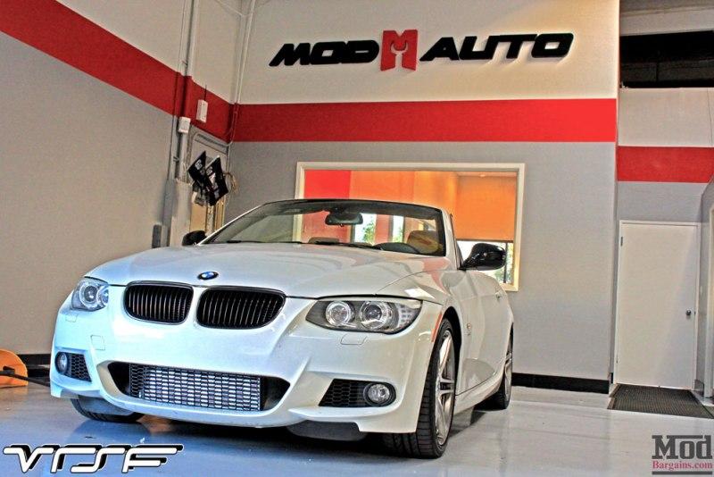 BMW E93 335is White VRSF FMIC Intake Chargepipe JB4 002