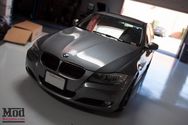 Gray BMW E90 328i Mod Sleek Gloss