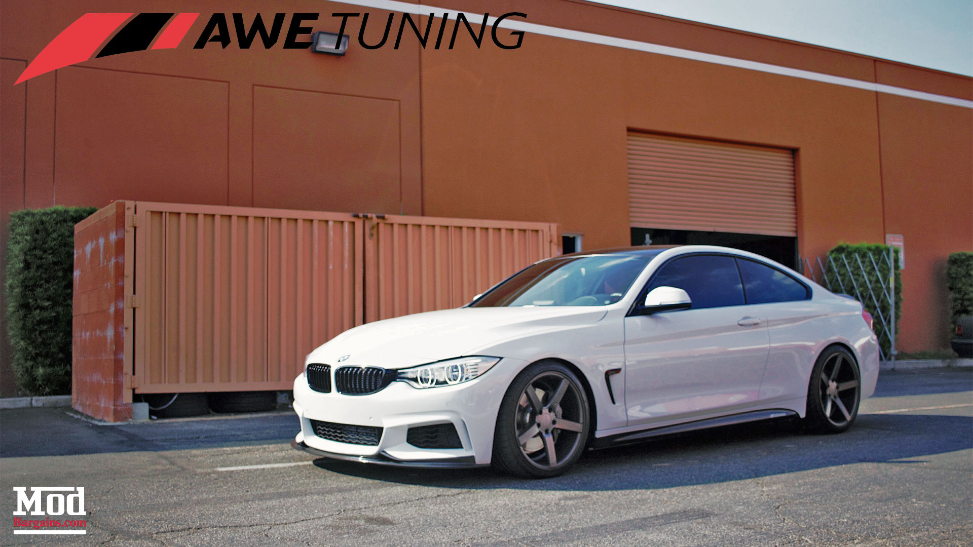 gorgeous f32 bmw 435i gets awe tuning exhaust installed modauto. Black Bedroom Furniture Sets. Home Design Ideas