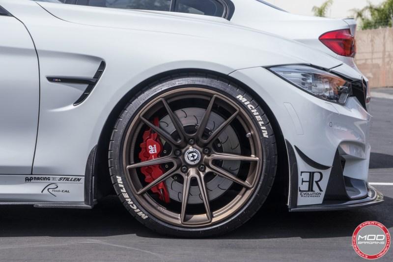 BMW F82 M4 Alpine White HRE FF04 AP Racing RevoZport Eibach Michelin PSS