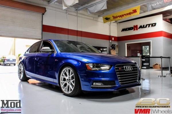 Blue Side: Audi B8 S4 on BC Coilovers gets VMR V810 Wheels