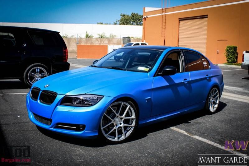 BMW_E90_335xi_Avant_Garde_M510_19in_Silver_KW_V1_Coilovers_AE_Catback_-26