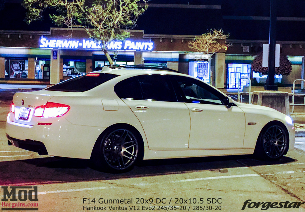 F10 Bmw 550i On Forgestar F14 20in Concave Wheels