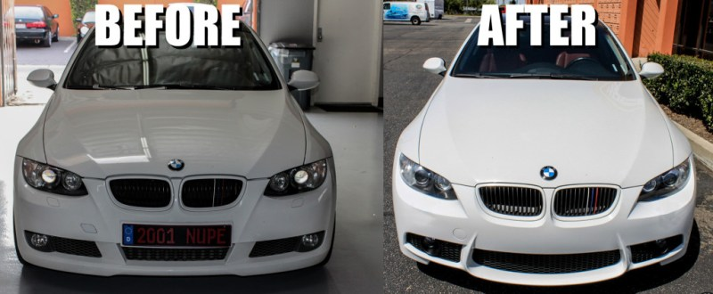 bmw-m3-front-bumper-before-after