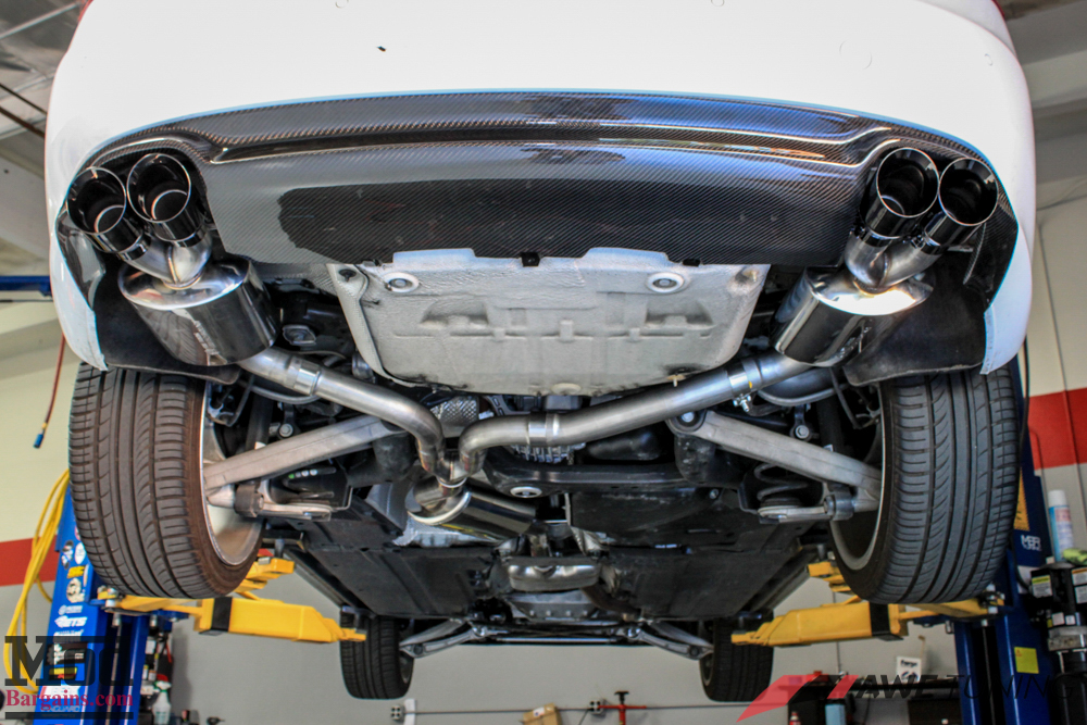 Awe Tuning Quad Exhaust For Audi A5 2 0 Tfsi Installed
