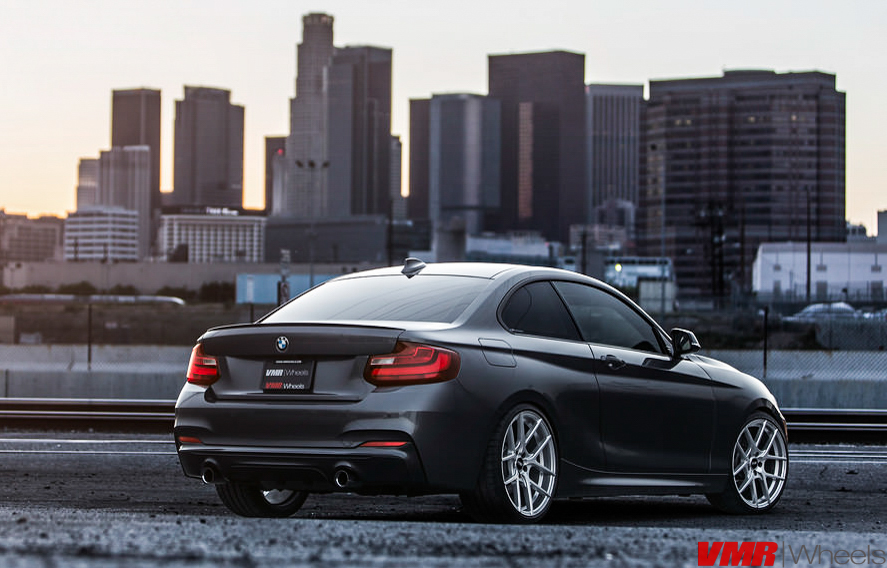 VMR V803 19in Hyper Silver Wheels On F22 BMW M235i