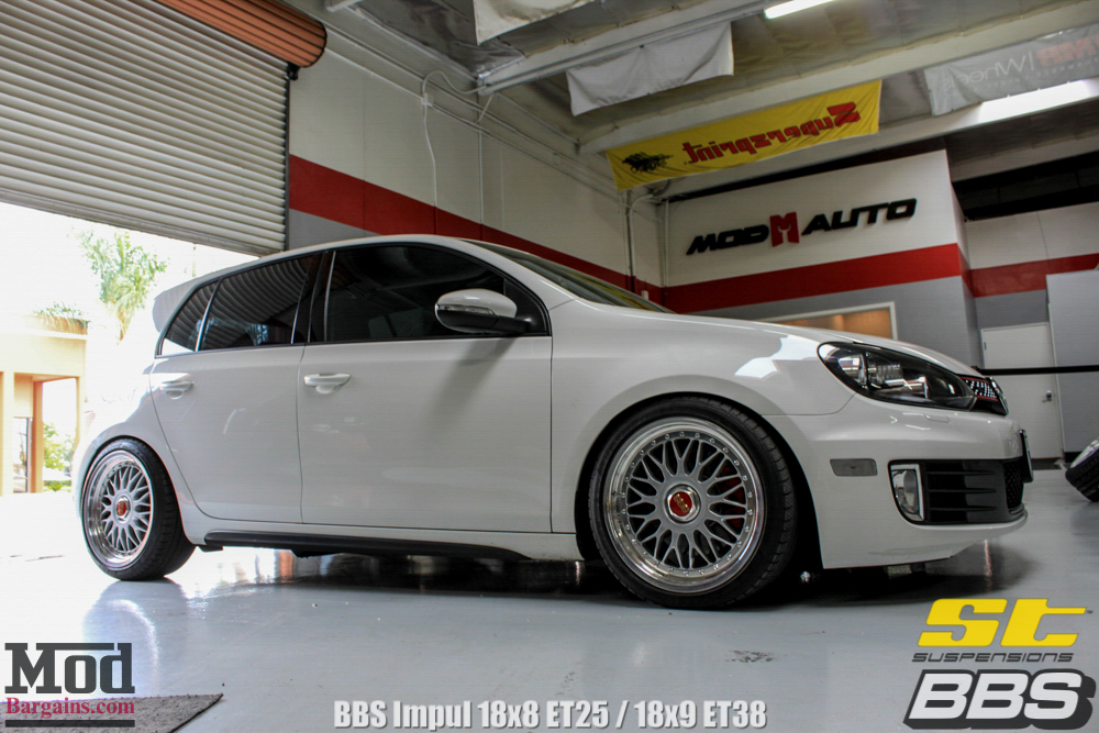 Vw Golf Gti Mk6 On Bbs Impul Gets Low On St Coilovers