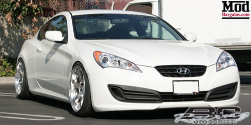 Hyundai Genesis Coupe sitting on BC Racing BR-Type Coilovers