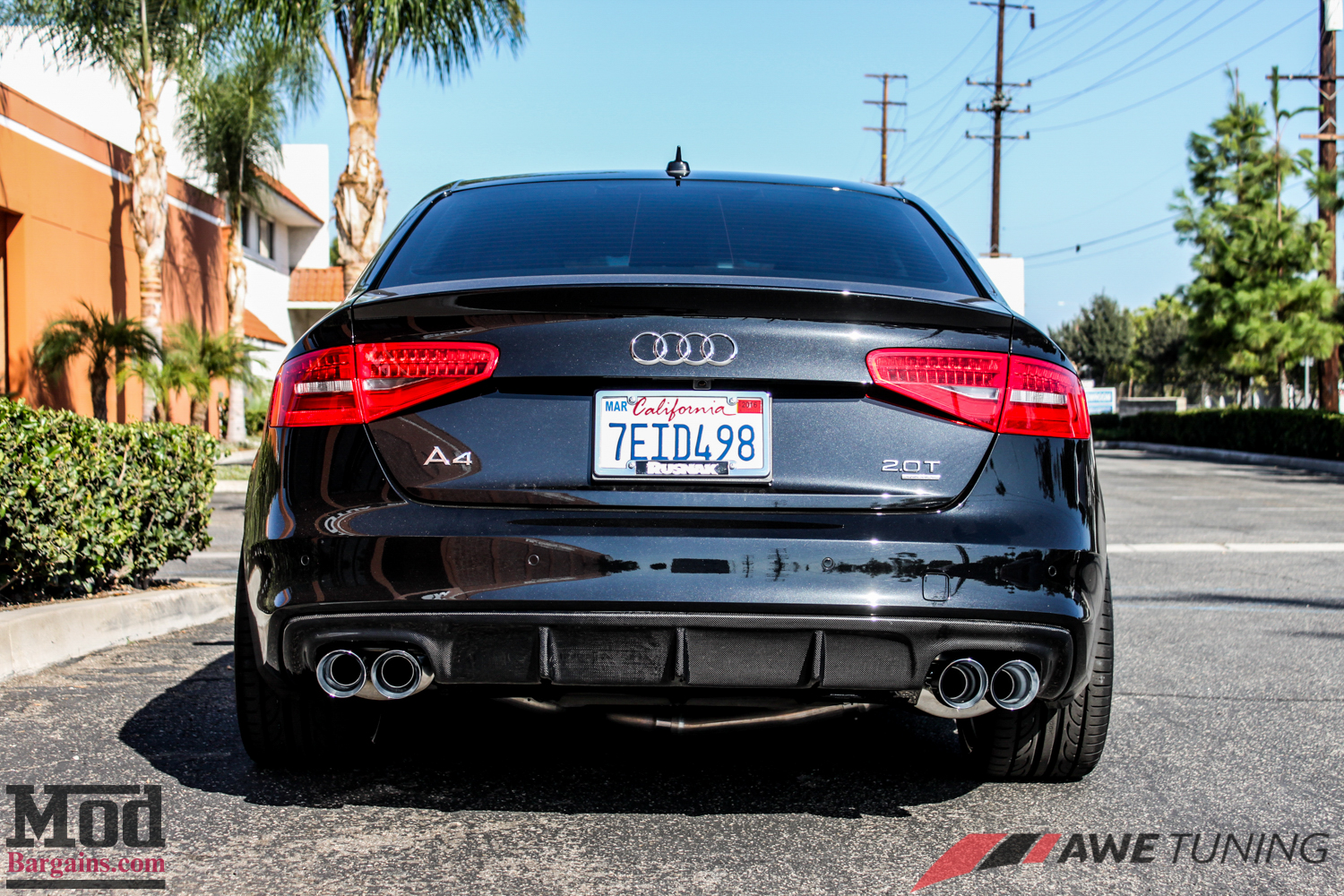 audi b8 a4 2 0t awe exhaust carbon diffuser modauto. Black Bedroom Furniture Sets. Home Design Ideas