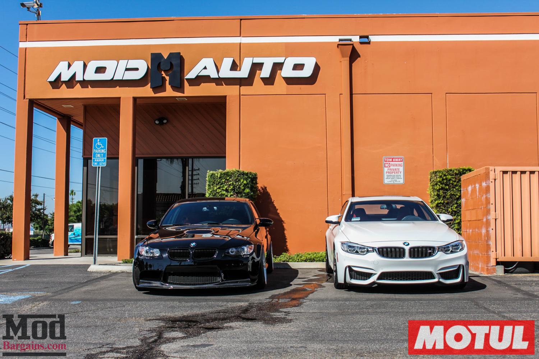E90 BMW M3 S65 Oil Change With Motul + Fresh NGK Spark Plugs Done @ ModAuto