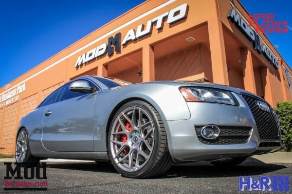 B8 Audi A5 3.2 Exhaust by AWE, AP Racing Big Brake Kit + HRE Wheels Installed @ ModAuto