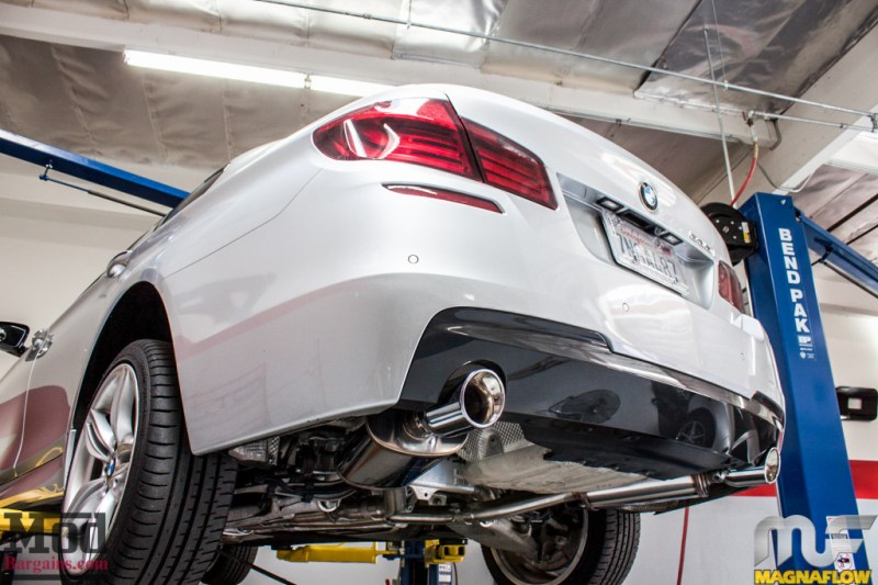 BMW F10 535i Silver Magnaflow Catback Exhaust (7)