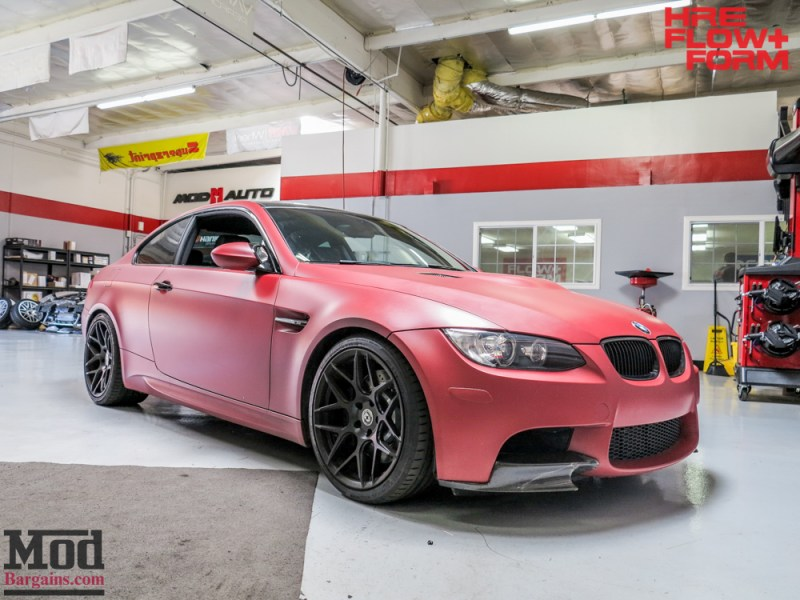 BMW_E92_M3_Matte_Red_Temoor_HRE_FF01_Tarmac (11)