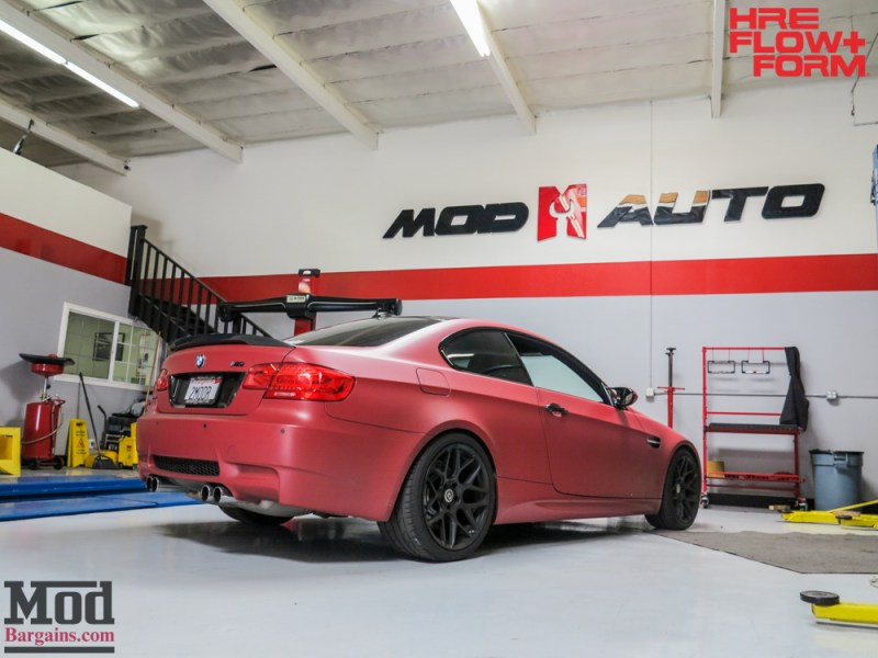 BMW_E92_M3_Matte_Red_Temoor_HRE_FF01_Tarmac (9)