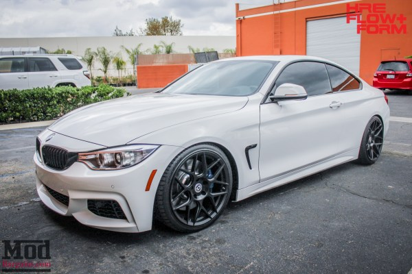 F32 BMW 435i on HRE FF01 Wheels gets BC Coilovers + Injen Intake For Power & Style