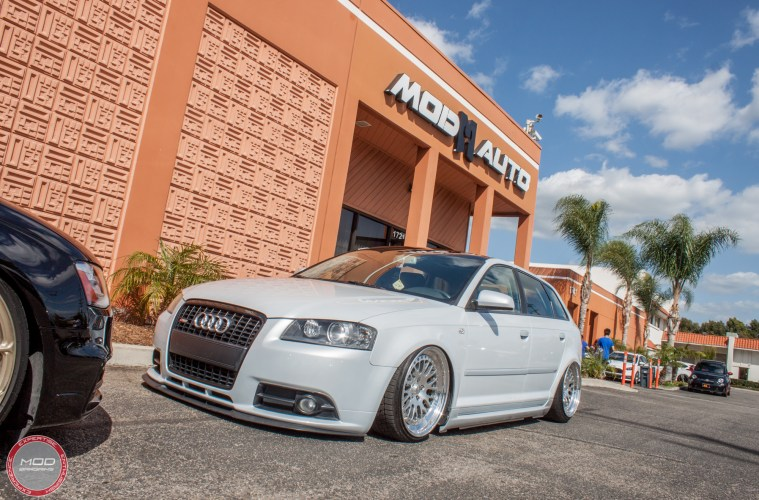 bagged 8p audi a3 with remus quad exhaust ccw wheels. Black Bedroom Furniture Sets. Home Design Ideas