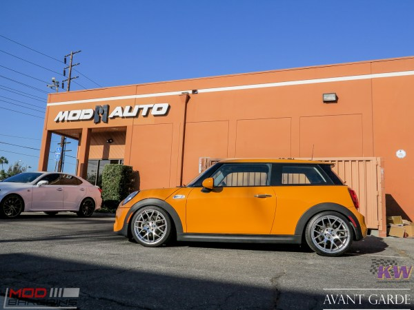 Quick Snap: Volcanic F56 Mini Cooper S on Avant Garde Wheels upgrades to KW Coilovers