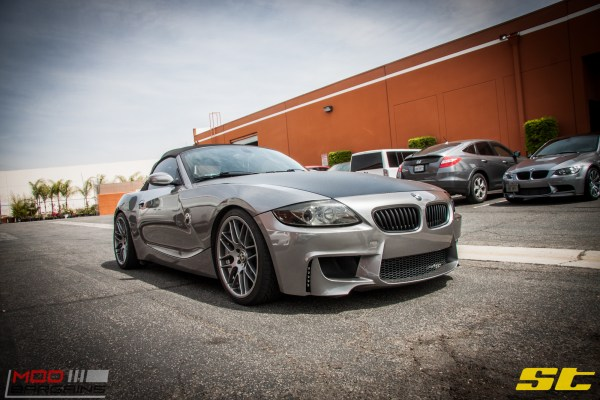 E85 BMW Z4 with Remus Exhaust Gets ST Coilovers @ ModAuto