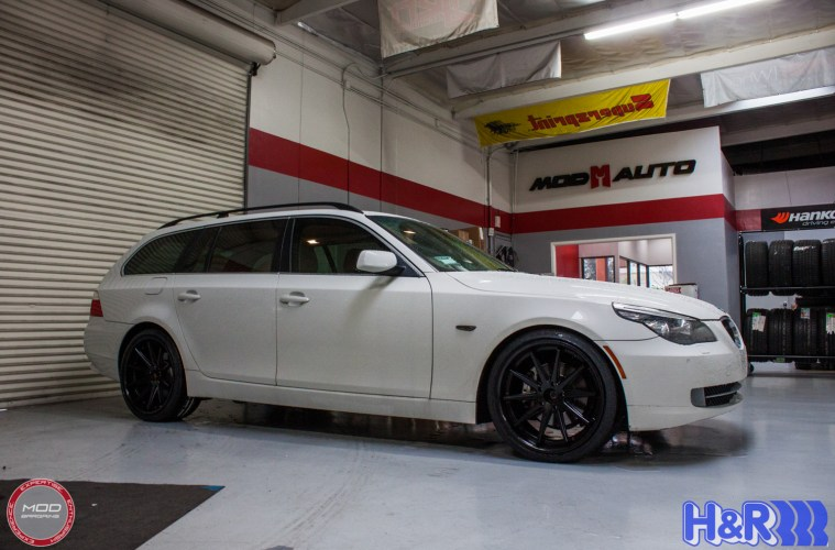 e61 bmw 535xi on rohana rc10 wheels h r springs. Black Bedroom Furniture Sets. Home Design Ideas